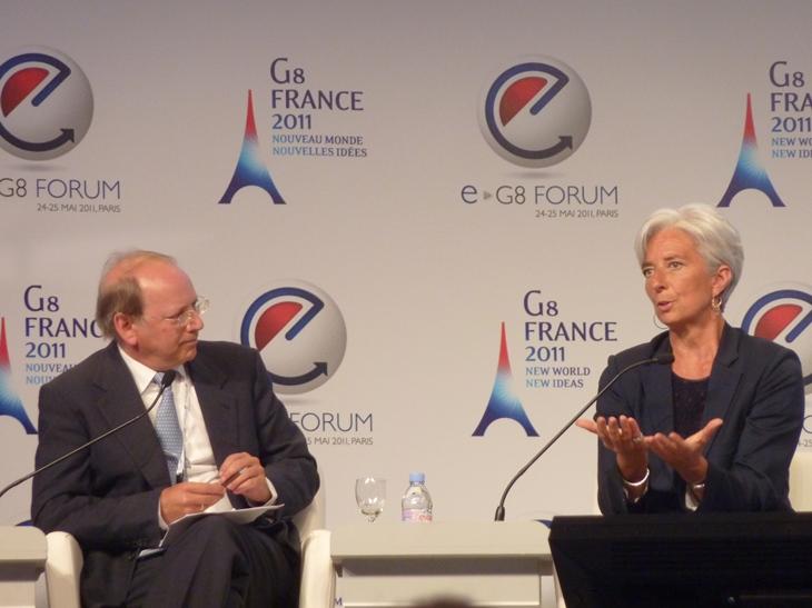 e-G8 Forum, 24 mai 2011, Ben Verwaayen et Christine Lagarde