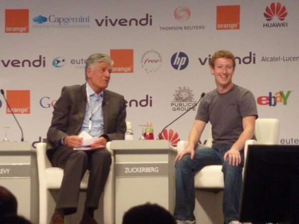 e-G8 Forum, 25 mai 2011, Maurice Lévy et Marc Zuckerberg
