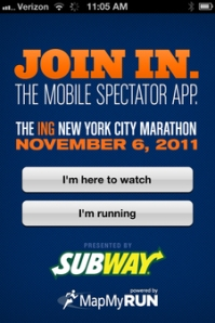 ING New York Marathon City TrackMyRunner