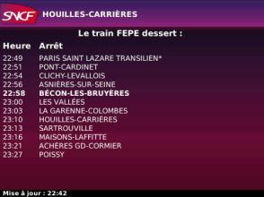 Application SNCF sur BlackBerry